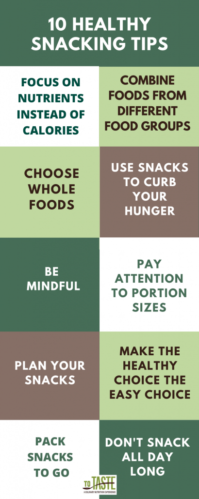 10 healthy snacking tips list