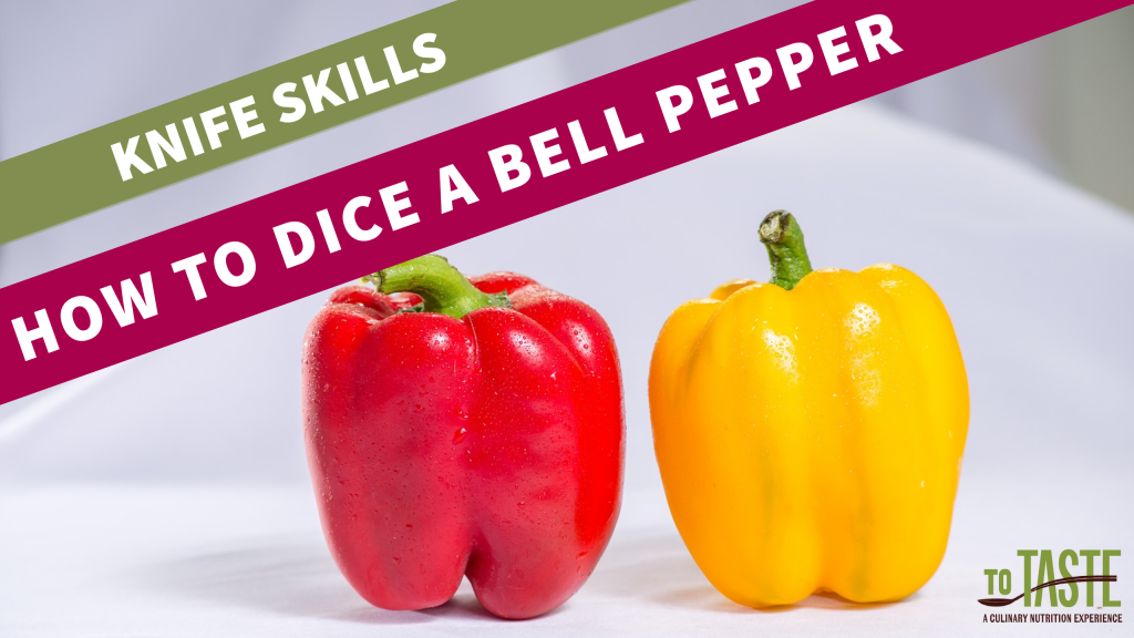 how to dice a bell pepper video