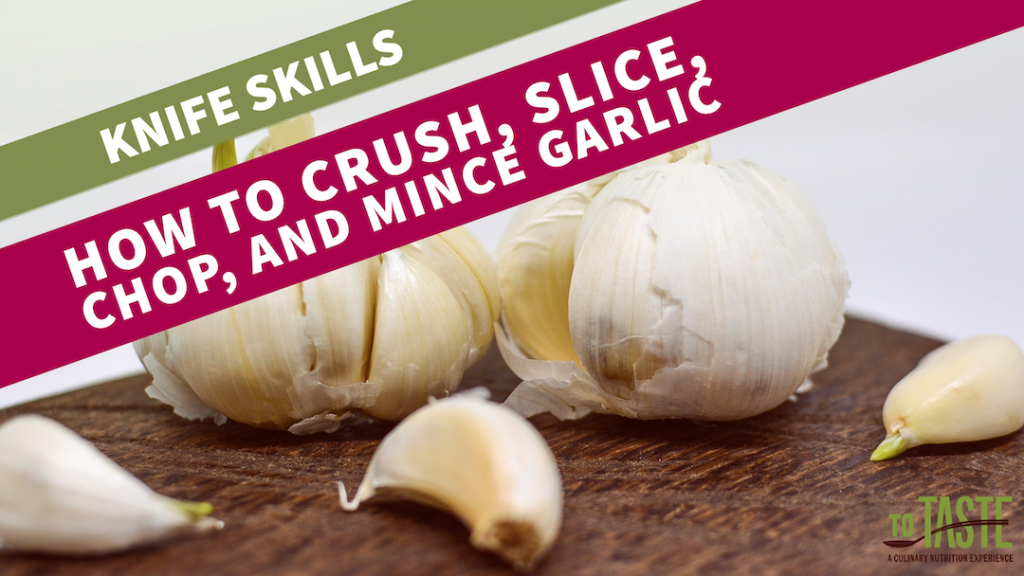 how to mince garlic knife skills video