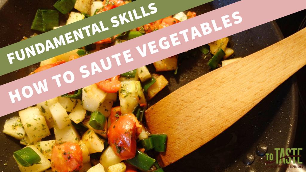how to sauté vegetables video