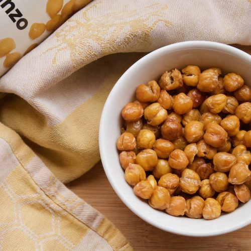 roasted chickpeas base recipe with can of garbanzo beans