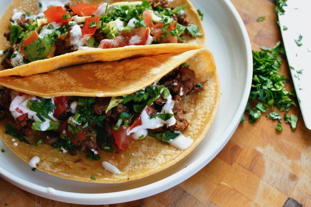 plant forward diet beef mushroom tacos