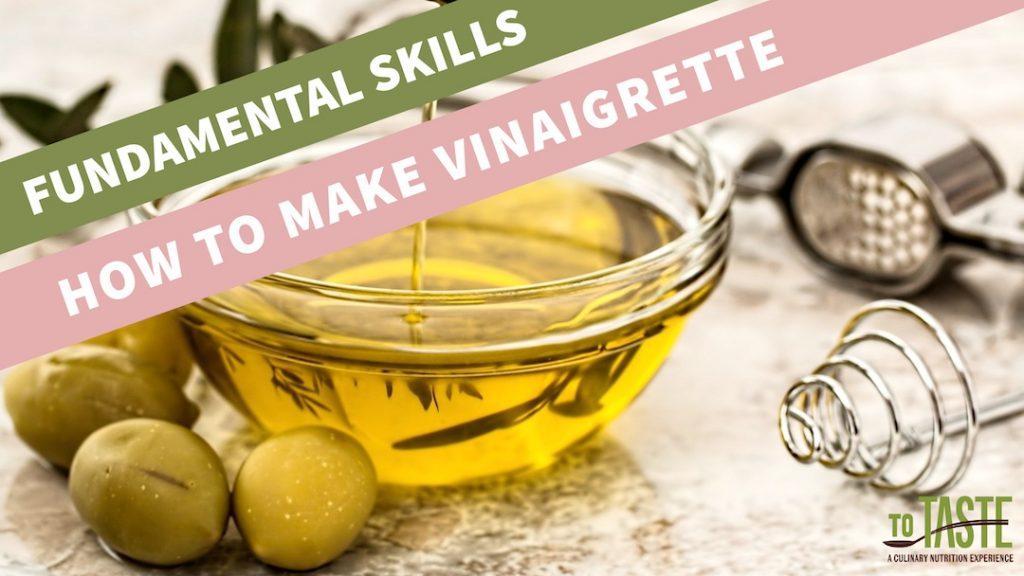 fundamental skills - VINAIGRETTE